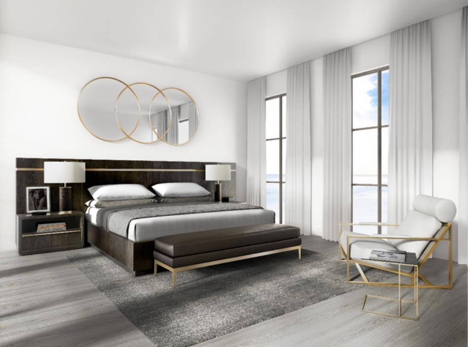 All residences at One Marina will feature modern interior design.